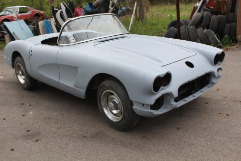 newer frame 1958 Chevrolet Corvette Convertible project for sale