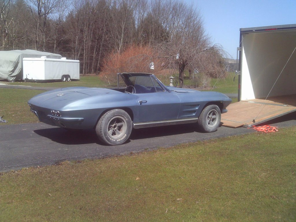 no engine 1964 Chevrolet Corvette project