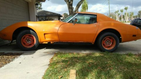 original paint 1977 Chevrolet Corvette project for sale