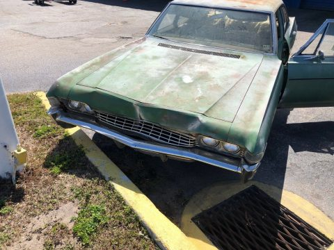 runs and drives 1968 Chevrolet Impala Sedan project for sale