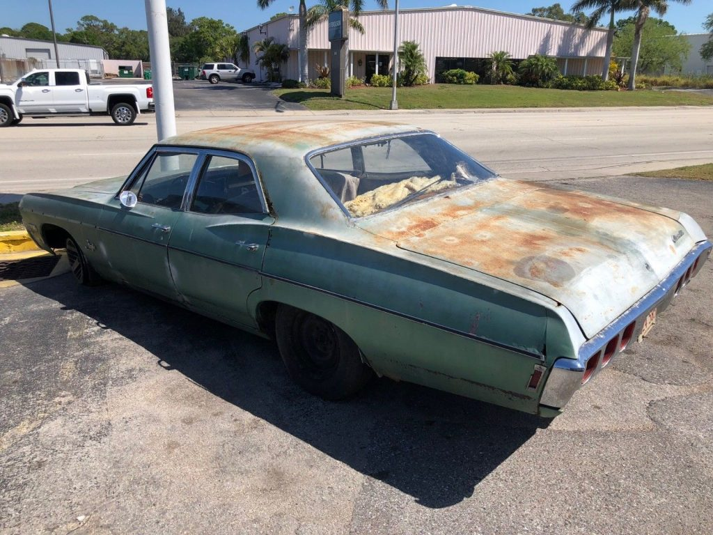 runs and drives 1968 Chevrolet Impala Sedan project