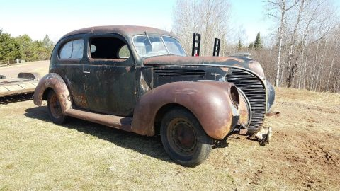solid 1938 Ford Deluxe hot rod project for sale