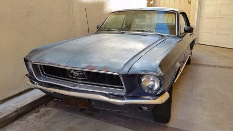 solid 1968 Ford Mustang Coupe project for sale