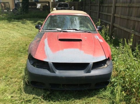 solid 2002 Ford Mustang Gt convertible project for sale