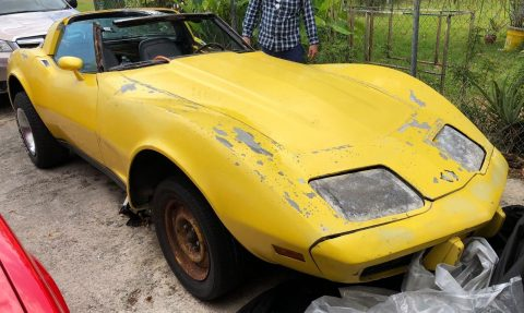 starts and runs 1978 Chevrolet Corvette T Top project for sale