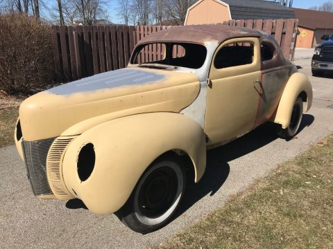 chopped 1940 Ford Coupe Deluxe project for sale