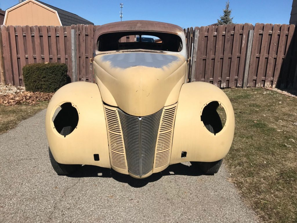 chopped 1940 Ford Coupe Deluxe project