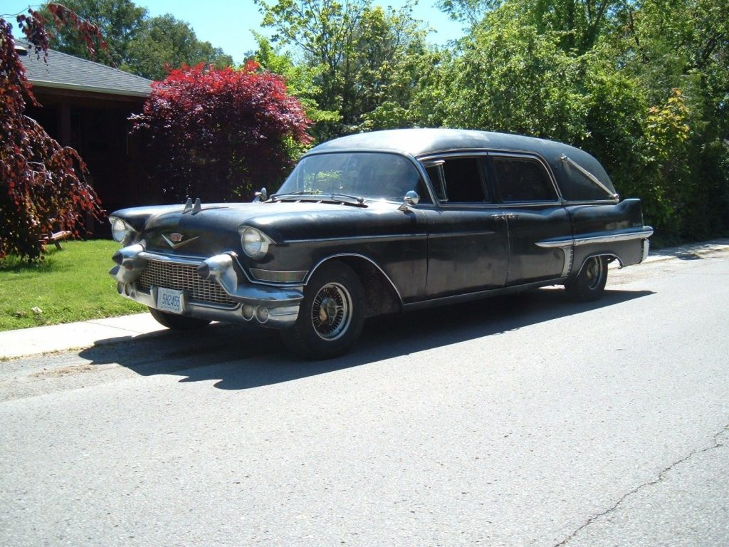rare 1957 Cadillac eureka hearse project