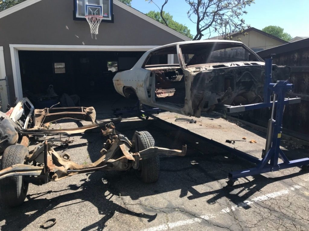 ready for sandblasting 1969 Chevrolet Impala project