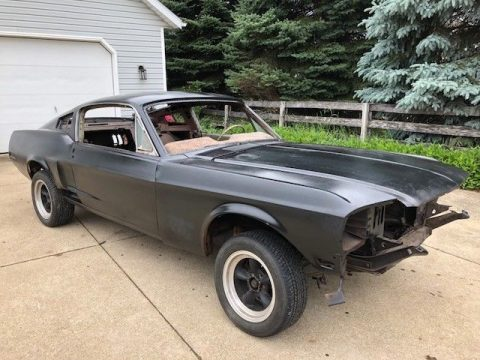 some rust 1968 Ford Mustang Fastback J Code project for sale