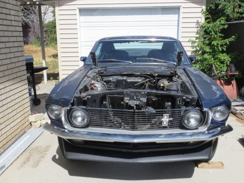 alternative engine 1969 Ford Mustang Mach 1 project for sale