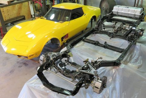 complete 1971 Chevrolet Corvette Coupe project for sale