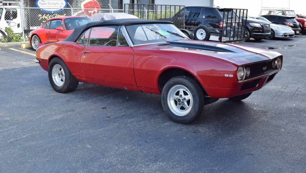 missing engine 1967 Chevrolet Camaro SS convertible project
