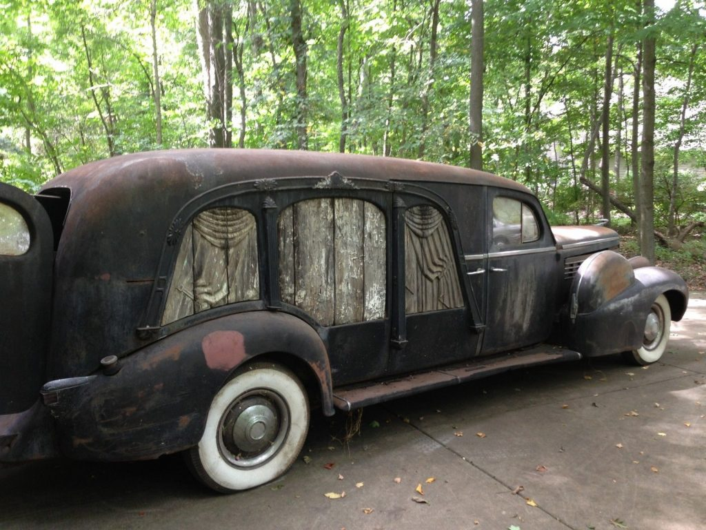 rare 1938 Lasalle Miller Art Carved Hearse project