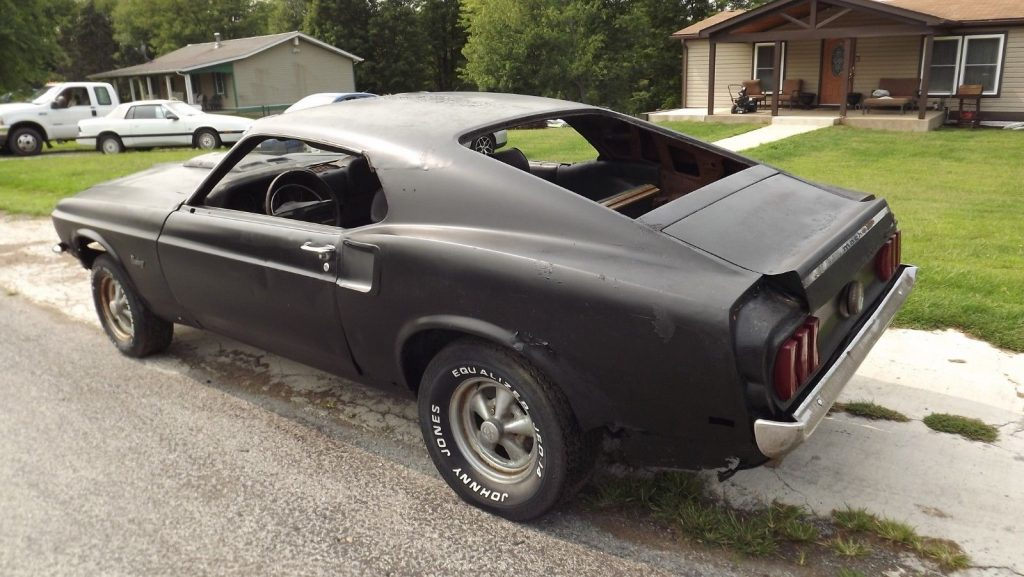 barn find 1969 Ford Mustang fastback project