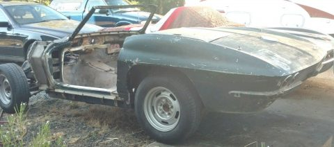 needs complete restoration 1964 Chevrolet Corvette Convertible project for sale