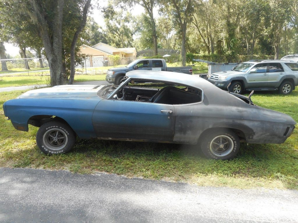 needs total restoration 1970 Chevrolet Chevelle SS project