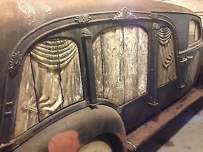 rare 1938 Cadillac AJ Miller Lasalle Art Carved Hearse project