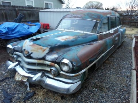 solid 1952 Cadillac Miller Meteor Hearse project for sale