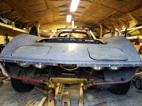 solid 1968 Chevrolet Corvette Project for sale