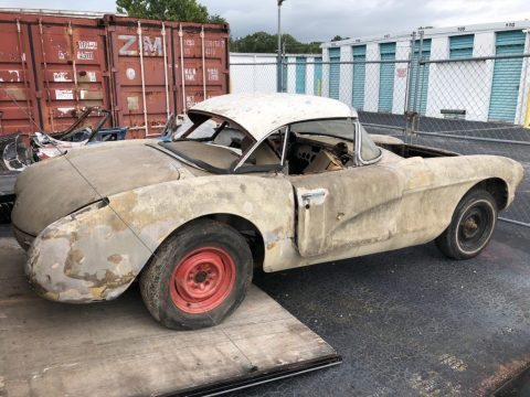 tons of parts 1957 Chevrolet Corvette project for sale