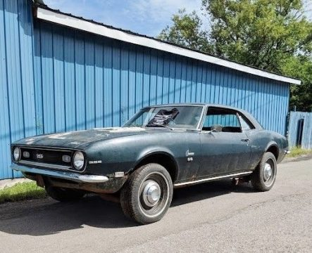 all original 1968 Chevrolet Camaro SS 396 project for sale