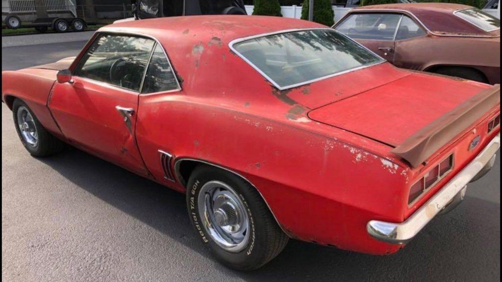 needs body work 1969 Chevrolet Camaro project