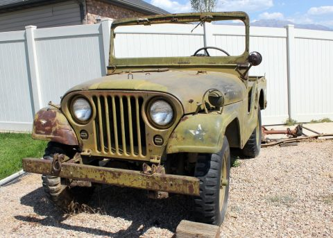 original shape 1953 Willys M38a1 project for sale