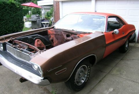 rare 1970 Dodge Challenger R/T project for sale