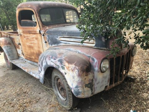 solid 1942 Ford 1/2 Ton Pickup project for sale