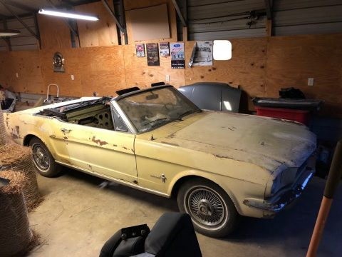 solid 1966 Ford Mustang Sprint Convertible project for sale