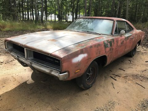 solid 1969 Dodge Charger Project for sale