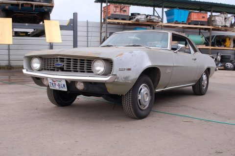 solid roller 1969 Chevrolet Camaro project for sale