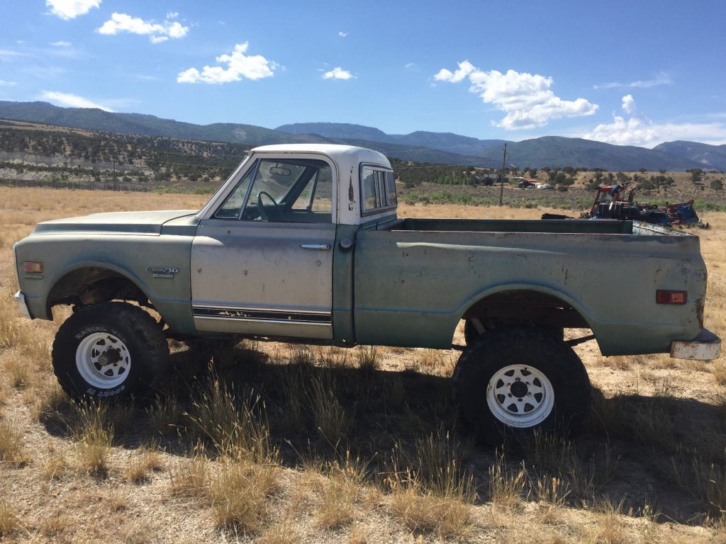 some rust 1969 Chevrolet C 10 Short Bed project
