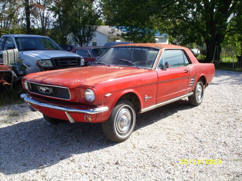 little rust 1966 Ford Mustang project