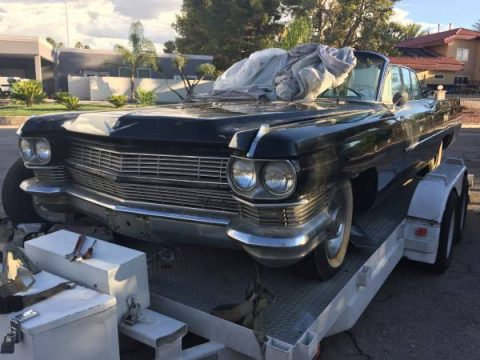 needs tlc 1964 Cadillac DeVille convertible project for sale