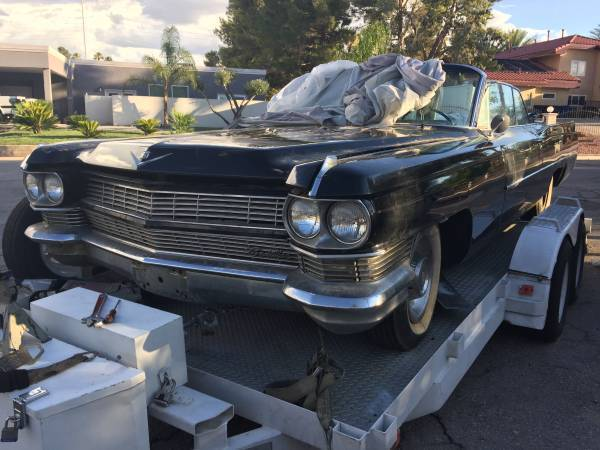needs tlc 1964 Cadillac DeVille convertible project