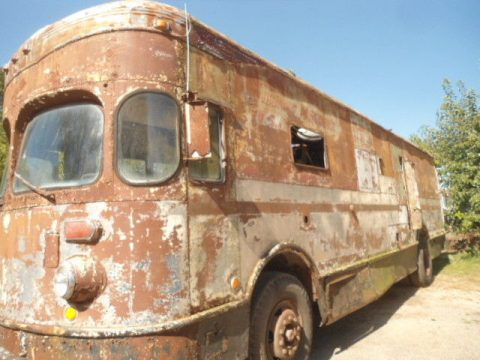 rare 1958 Fageol Twin Coach Highway Postal Van project for sale