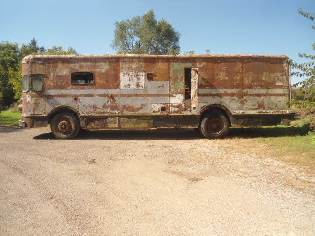 rare 1958 Fageol Twin Coach Highway Postal Van project