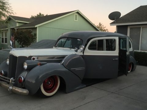 solid 1940 Packard hearse project for sale
