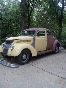 Chevy engine 1937 Ford hot rod project for sale