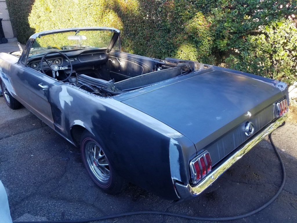 garage find 1965 Ford Mustang Convertible project