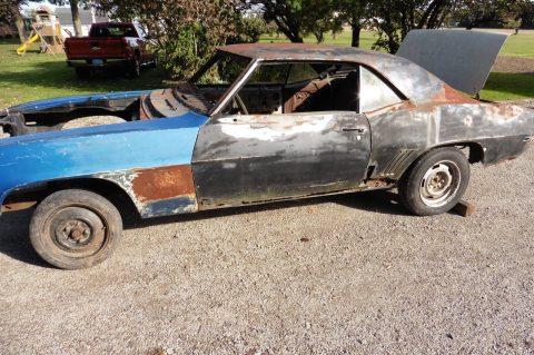needs new sheetmetal 1969 Chevrolet Camaro project for sale