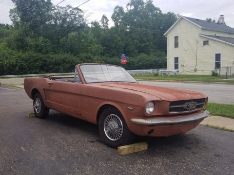 solid 1965 Ford Mustang Convertible project for sale