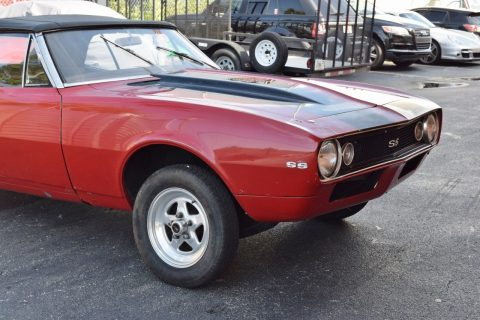 solid 1967 Chevrolet Camaro SS convertible project for sale