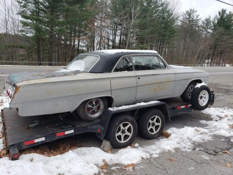 starts and drives 1962 Chevrolet Impala Sport coupe project for sale