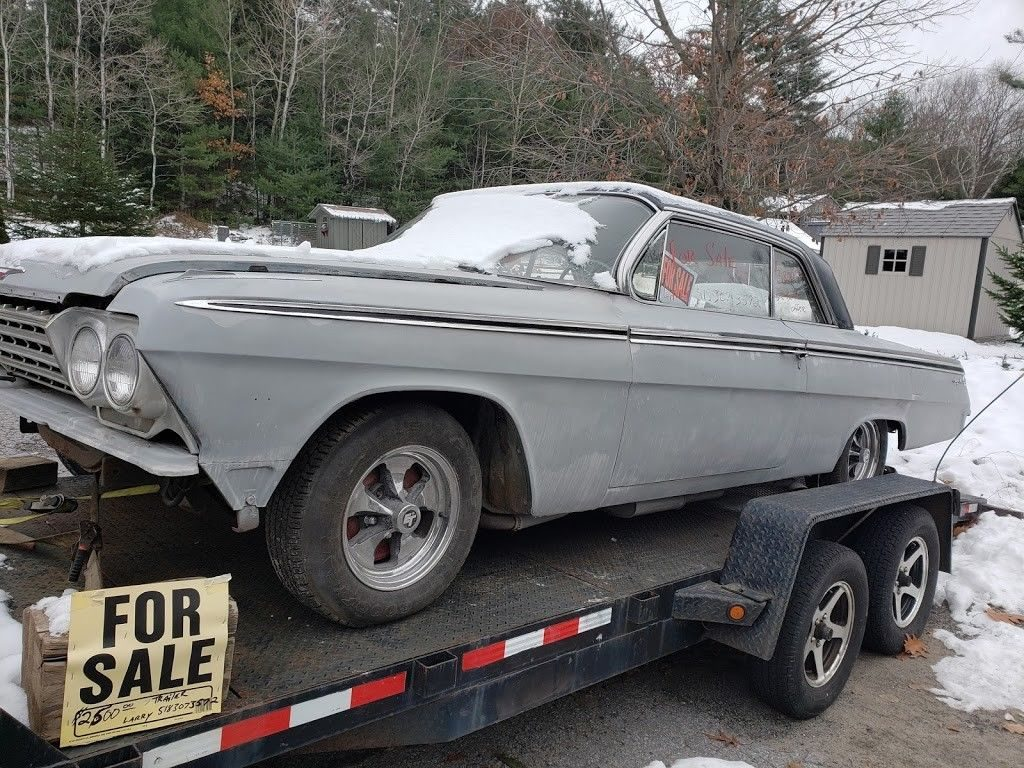 starts and drives 1962 Chevrolet Impala Sport coupe project