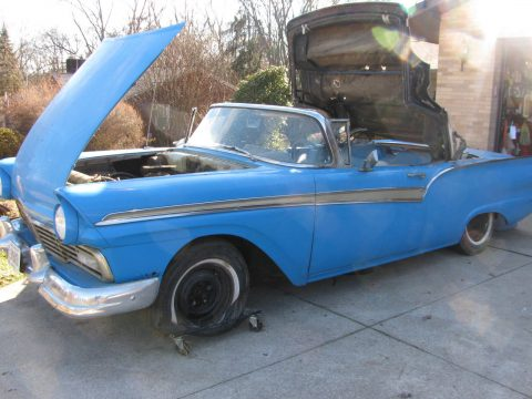 a blast from the past 1957 Ford Fairlane 500 Convertible project for sale