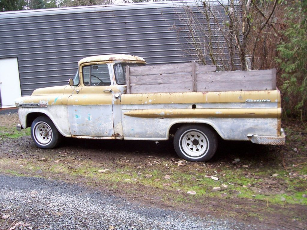 easy restoration 1959 Chevrolet Pickup project