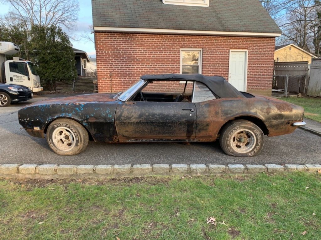 needs total resto 1968 Chevrolet Camaro Convertible project